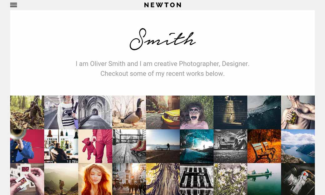 WordPress Wednesday: Newton Photography Theme