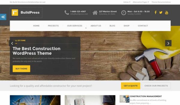 WordPress Wednesday: BuildPress Construction Theme