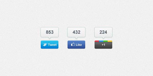Share Buttons PSD
