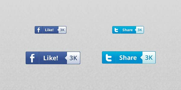 Social Media Buttons with Counter