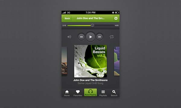 How to Design an iPhone Music Player App Interface