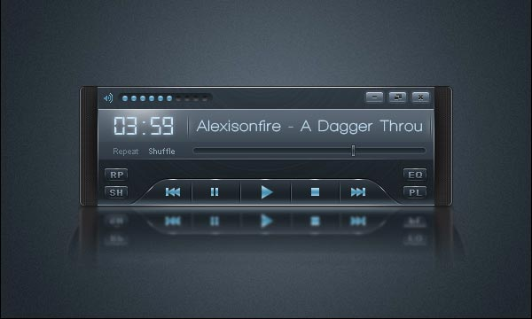 How To Create a Sleek Audio Player Interface in Photoshop