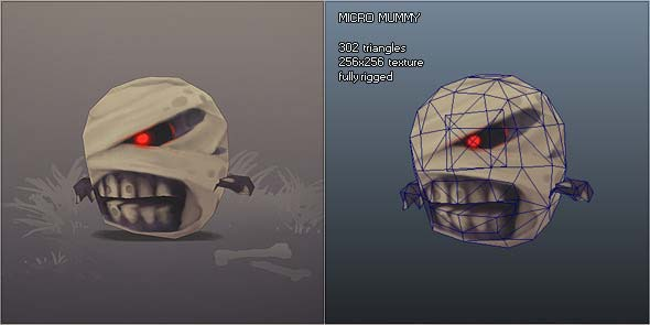 Low Poly Micro Mummy Taal