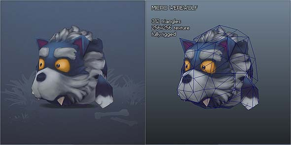 Low Poly Micro Werewolf Otis