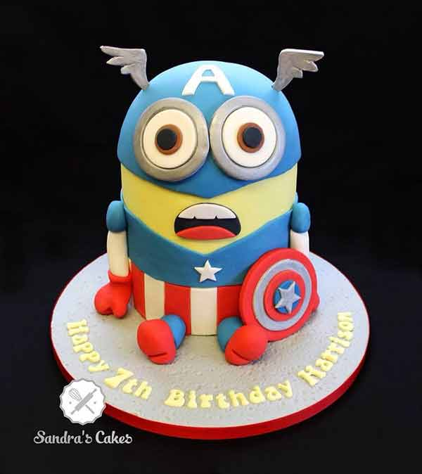 Minion Captain America Cake