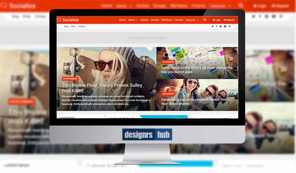 Socialize: Multi-Purpose BuddyPress Theme