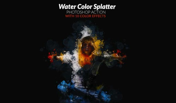 Photoshop Action of the Day: Water Color Splatter Effects