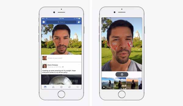 Facebook Begins Testing a Snapchat-like Camera