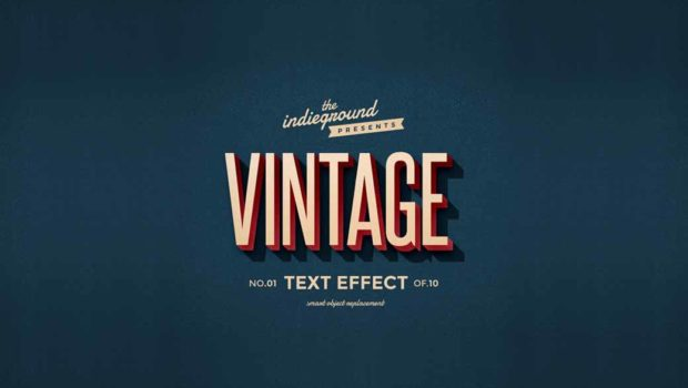 Photoshop Action of the Day: Retro Vintage Text Effects