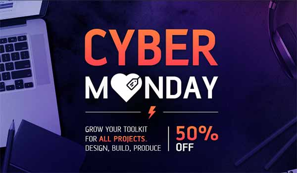 50% Off Over 500 Items On Envato Market's Cyber Monday Sale