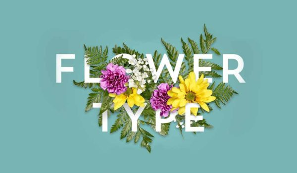 Photoshop Action of the Day: Flower Typographic Layout