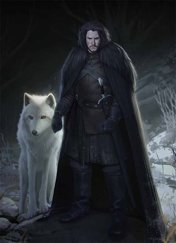 Game of Thrones illustration - Jon Snow