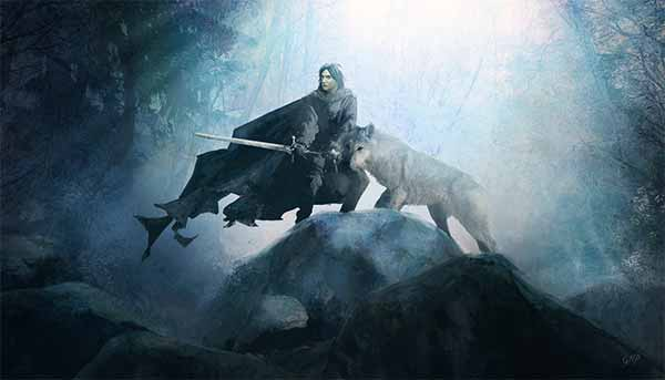 Jon Snow and Ghost Artworks