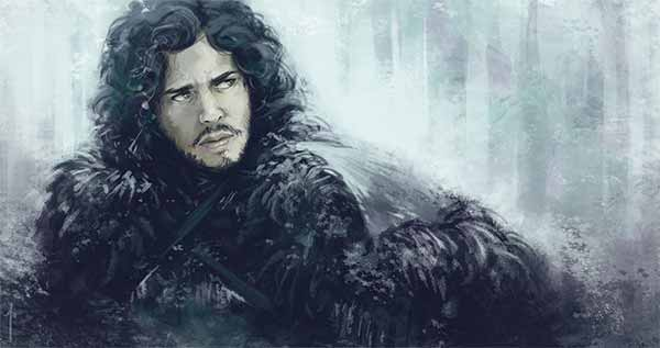 Jon Snow Painting
