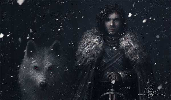 Jon Snow Digital Art