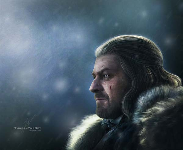 Sean Bean as Lord Eddard Stark