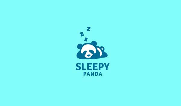 Sleepy Panda Logo Designs
