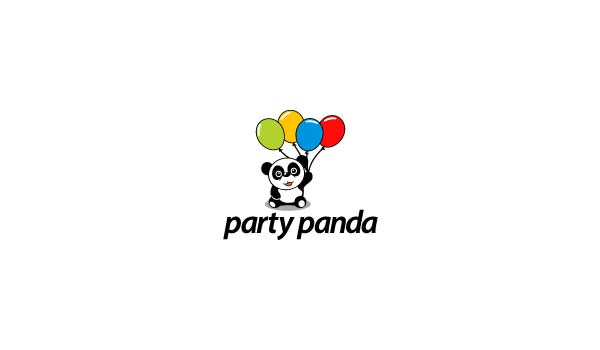 Party Panda Logo Designs