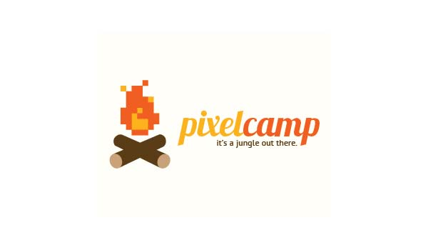 Pixel Camp - 8Bit Logo Design
