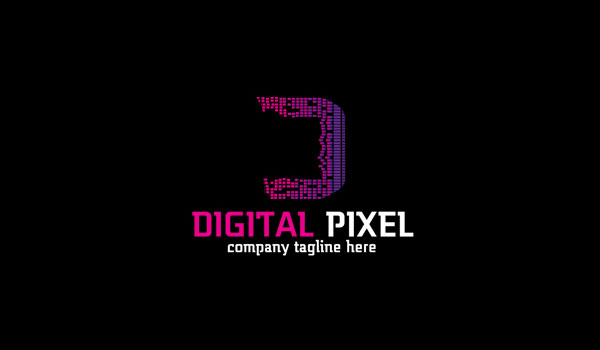 Digital Pixel Logo Design
