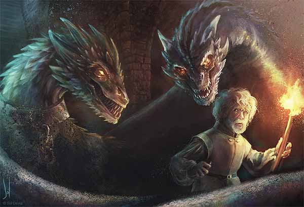 Tyrion Lannister and the Dragons