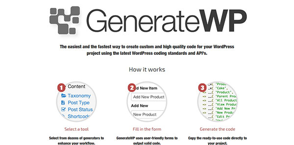 GenerateWP - Tools for WordPress Developers