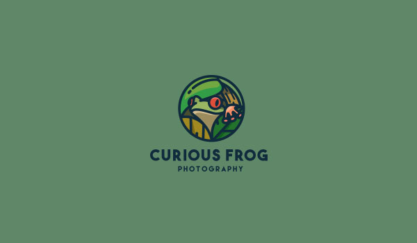 Curious Frog Logo Designs