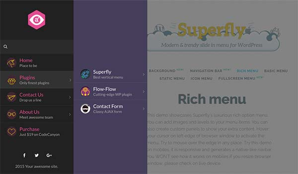 Create Responsive WordPress Menu with Superfly