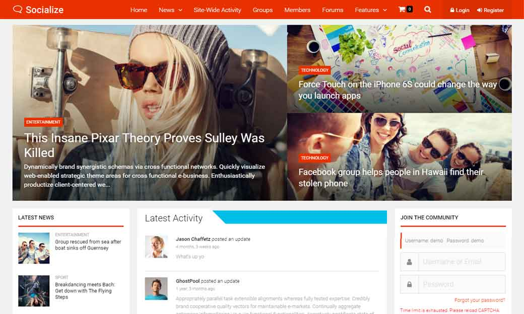 WordPress Wednesday: Socialize BuddyPress Theme