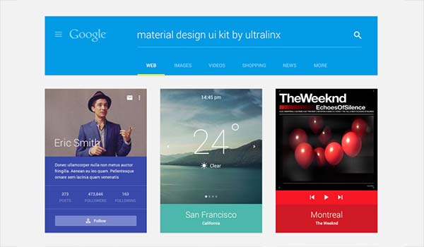 Free Download of Material Design UI Kit