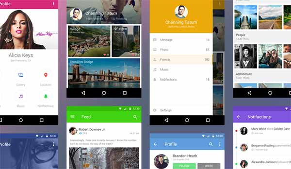 Free Android UI Kit Inspired by Material Design