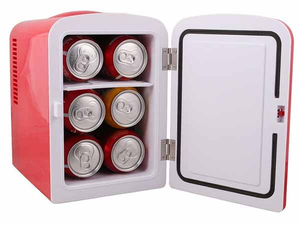 TMS Portable Mini 6 Can Beverage Fridge Cooler & Warmer
