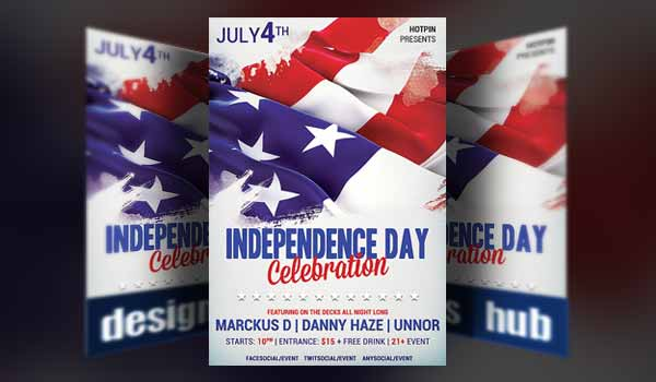 Patriotic Designs Featuring Th Of July Flyer Templates