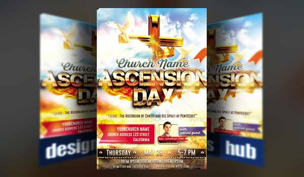 Church Ascension Day Flyer