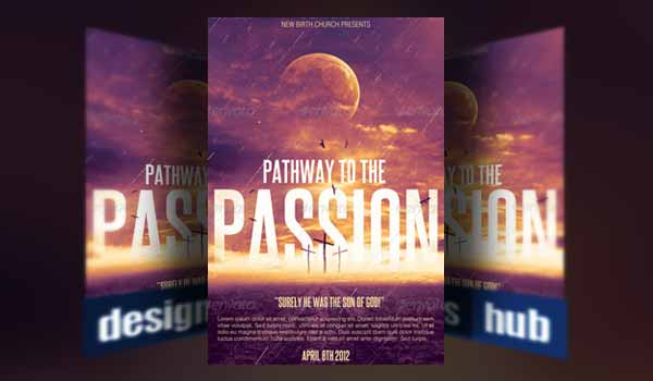 Church Flyer Template - Pathway to the Passion Flyer