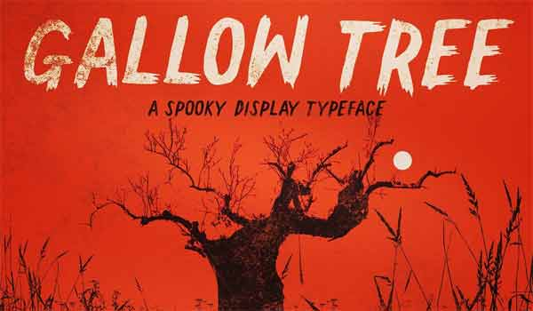 Gallow Tree - A Spooky Display Typeface