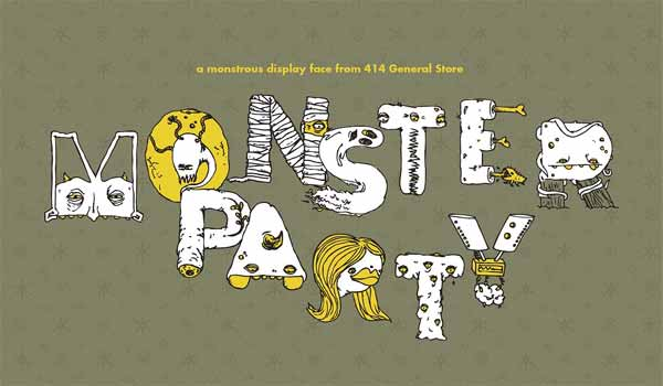 Monster Party - Typeface