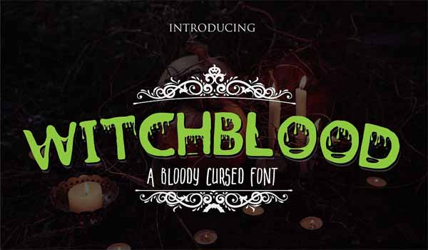 Witchblood Hand Drawn Font