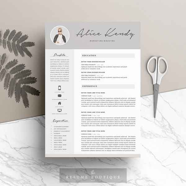 Resume Template Designs in 4 Pages