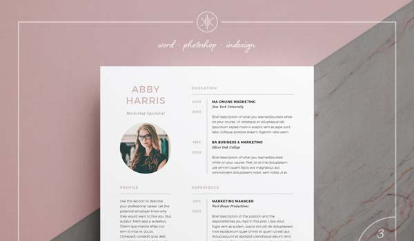 Abby - Professional Two Page Resume design