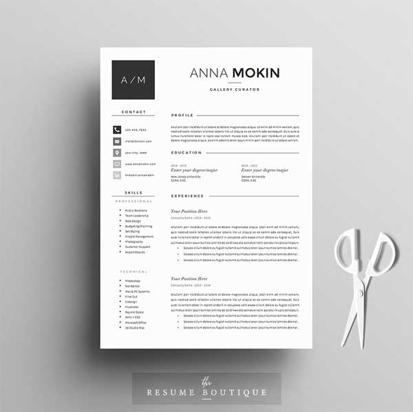 Feminine Resumes Template 5 Page Pack