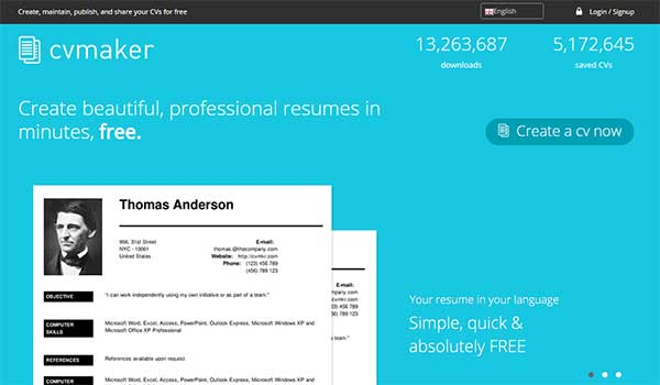 CV Maker: Create Professional Resumes Online for Free