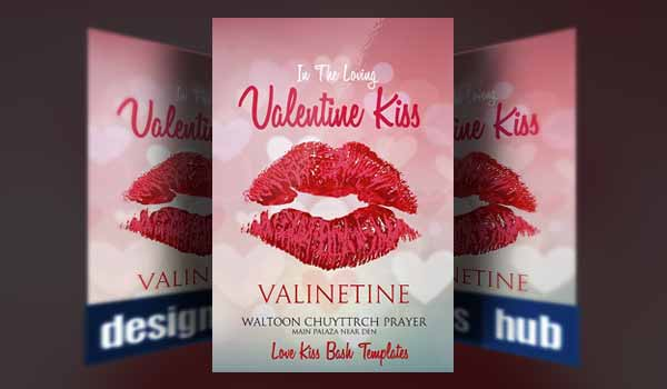 Valentines Kiss Flyer Template