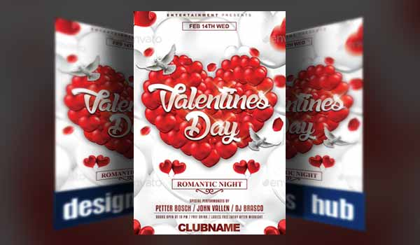 15 Modern Valentines Day Flyer Templates Perfect for 2018