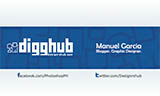 Free Business Card PSD Template Inspired by Digg